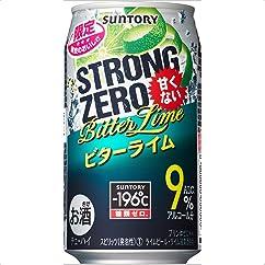【チューハイ・カクテルの新商品】サントリー チューハイ -196℃ ストロングゼロ ビターライム 350ml×24本