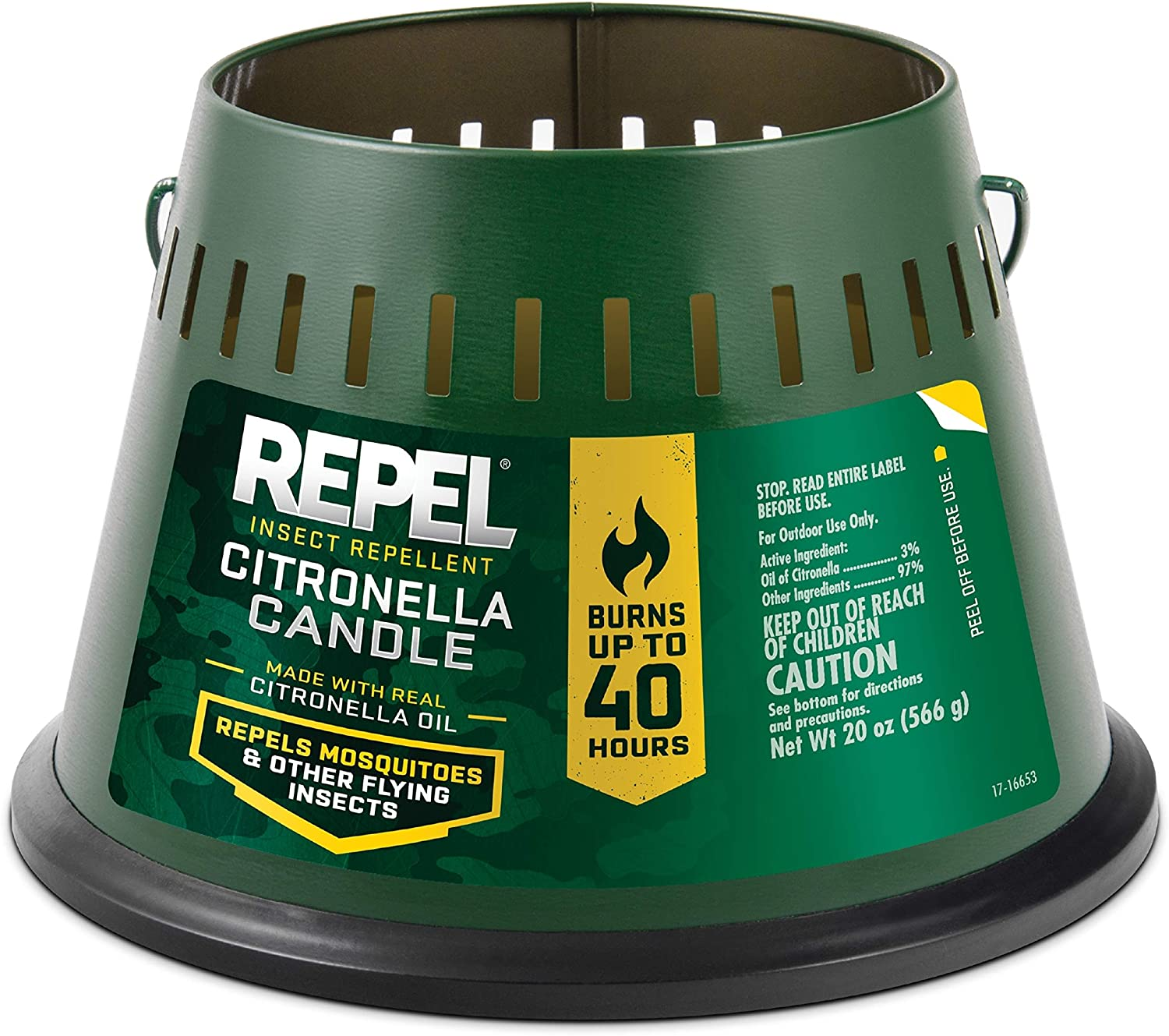 Amazon Com Repel Insect Repellent Citronella Candle Triple Wick