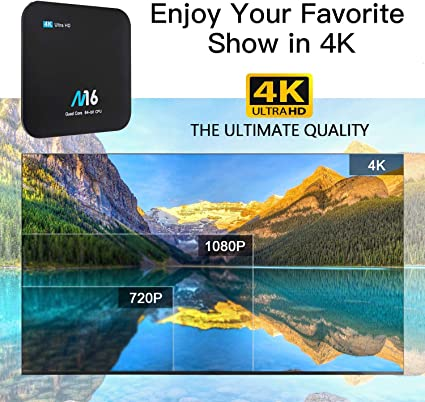 Android TV Box 4K - Wesho Android 7.1 Smart TV Box de 2GB RAM+16GB ROM con Bluetooth 4.0, Actualización del Procesador Amlogic S905X Quad Core, Soporta WiFi 2.4GHz, Android Box Media Player: