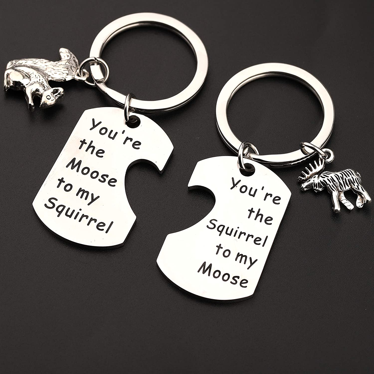 Best Friend Gift Friendship Gift Moose and Squirrel Keychain Youre the Moose to my Squirrel Sam and Dean Best Friend Keychain Set SPN Fan Gift