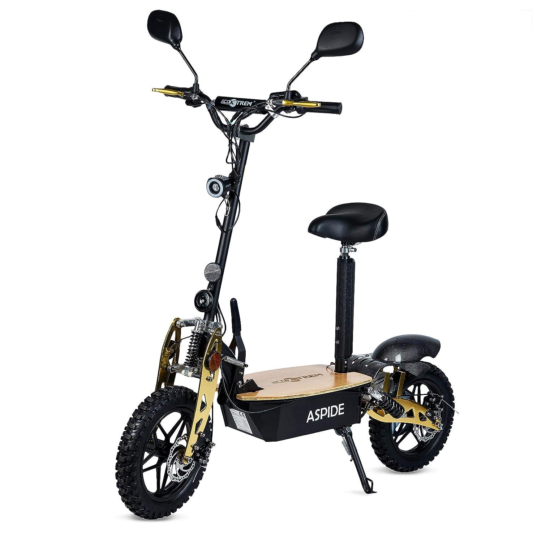 Patinete/Scooter eléctrico dos ruedas, con sillín, plegable, luz LED frontal, panel LCD, motor 2000W, velocidad hasta 40Km/h, autonomía hasta 30Km. ...