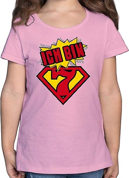 Shirtracer Ich Bin 1 Superheld Baby T-Shirt Kurzarm Geburtstag Baby