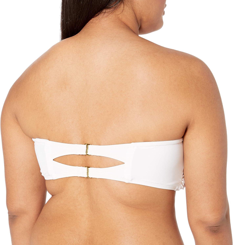 La Blanca Womens Island Goddess Bandeau Bikini Swimsuit Top