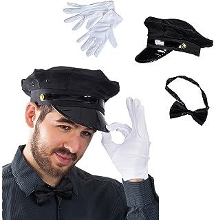 5e14f185d5f Tigerdoe Chauffeur Costume - Limo Driver Costume - Black Chauffeur Hat