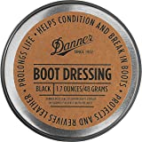 DANNER BOOT DRESSING (Protects,Revives,Prolongs,Conditions & Breaks in Boots) 1.7oz/48Grams (BLACK)