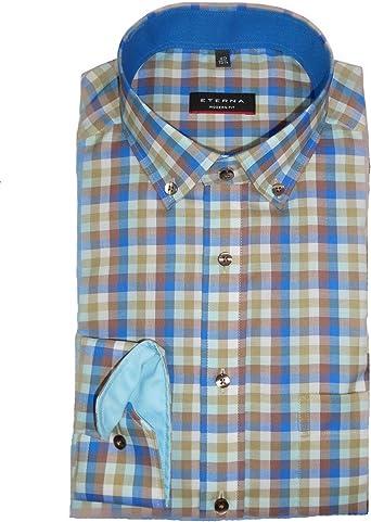 eterna Camisa de manga larga de corte moderno con ribetes a ...