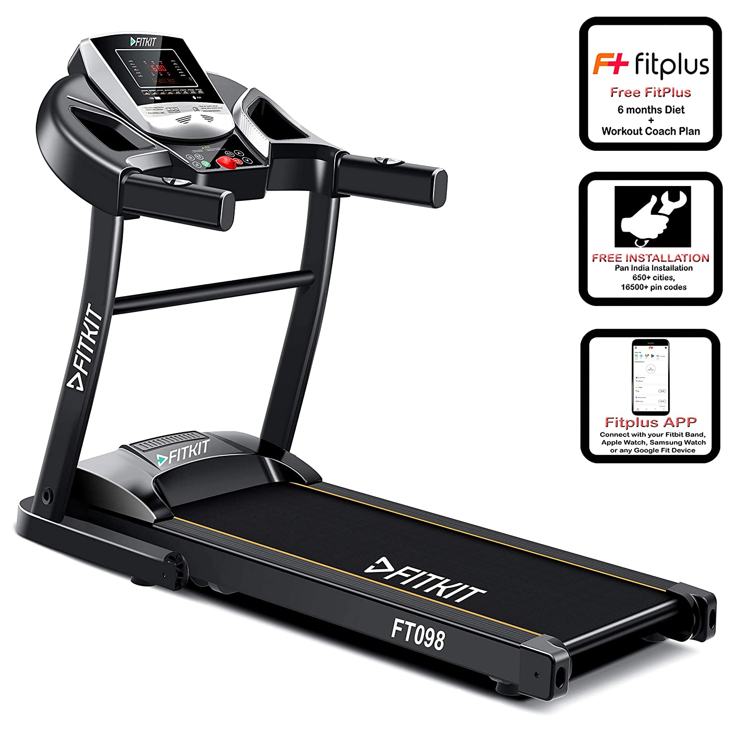 Fitkit FT098 1.5 HP Motorized Treadmill