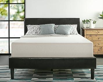zinus memory foam 12 inch green tea mattress queen - Mattress And Bed Frame