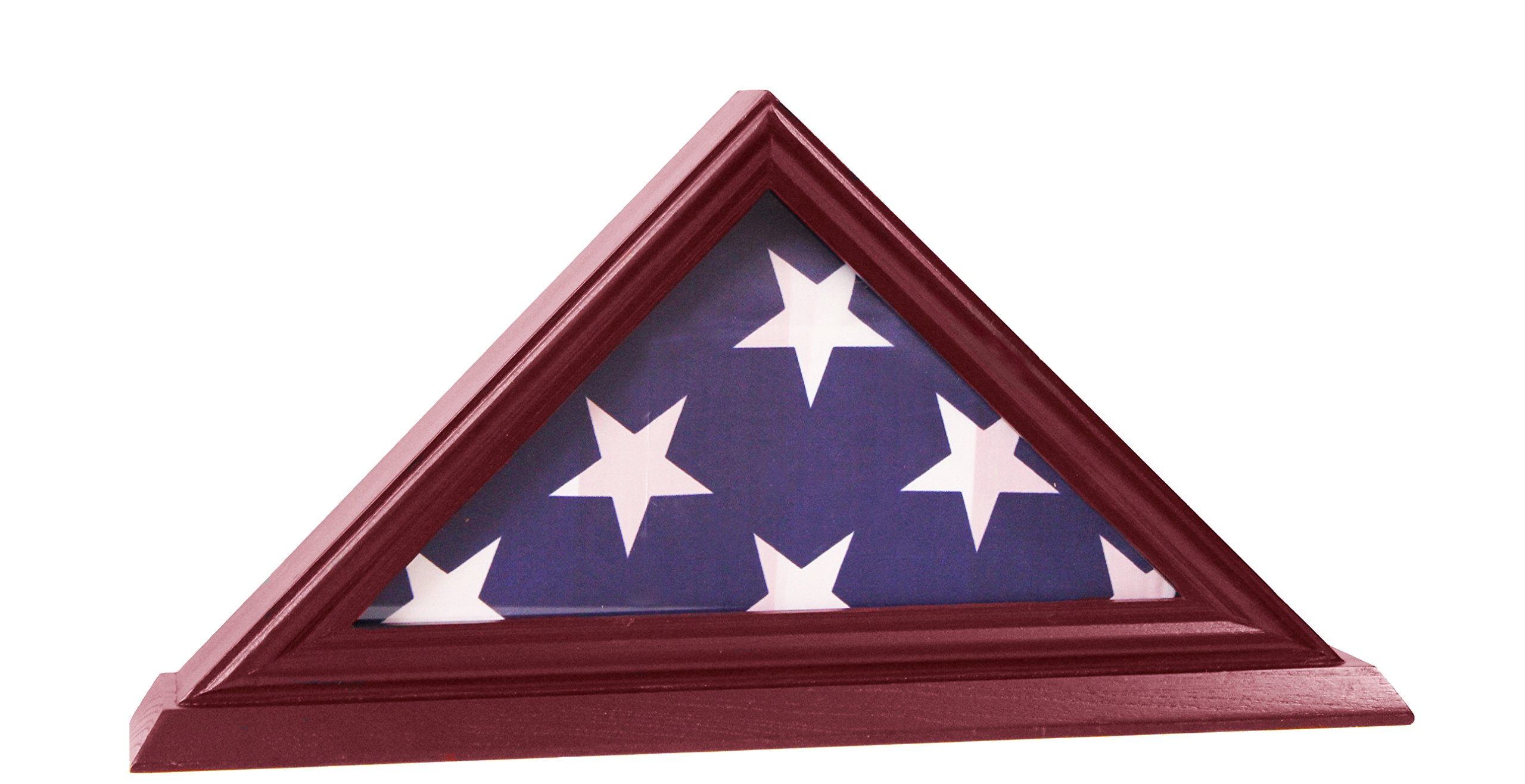 DECOMIL - 3'x5' Flag Display Case, Shadow Box (Not for Burial Funeral Flag), Solid Wood, Cherry Finish by DECOMIL
