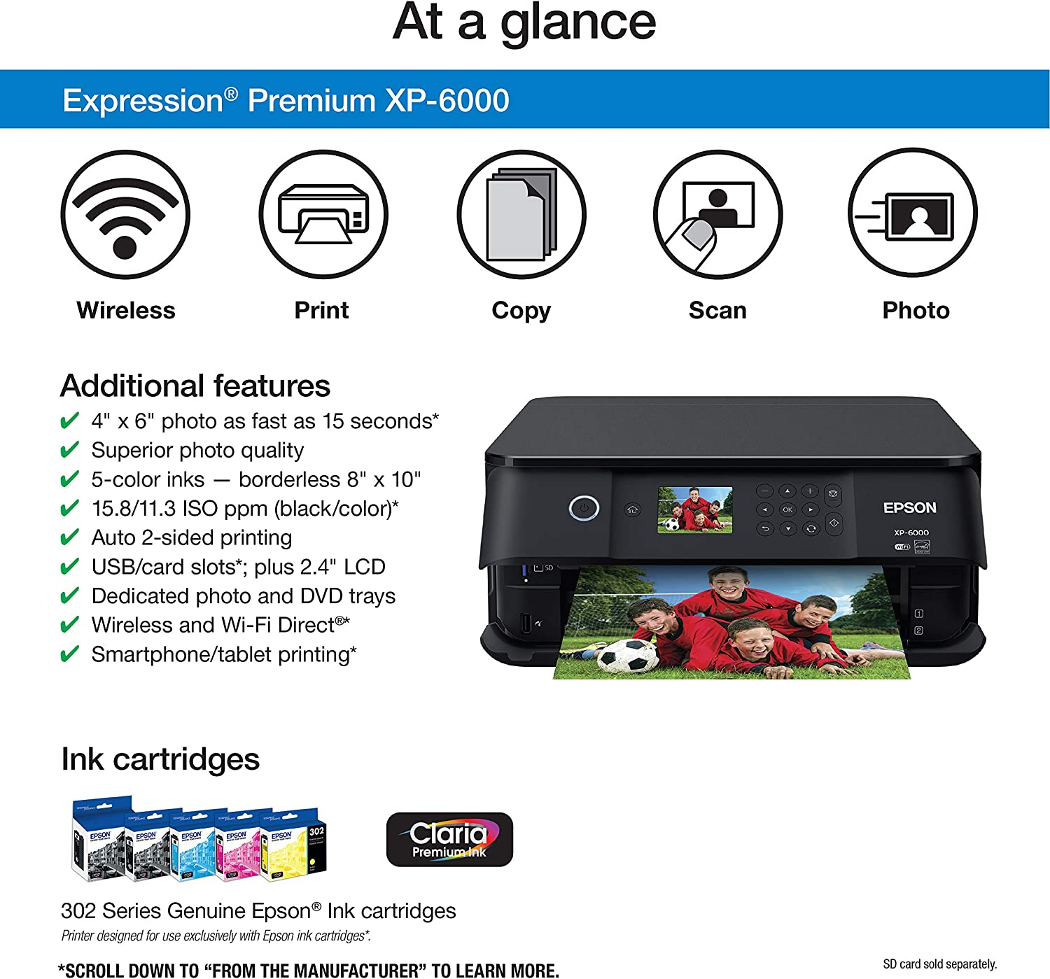 Amazon.com: Epson Expression Premium XP-6000 Impresora ...