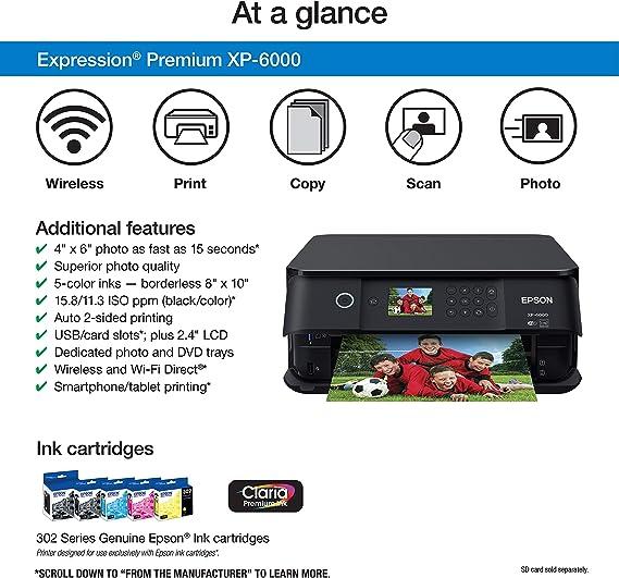 Amazon.com: Epson Expression Premium XP-6000 Impresora ...