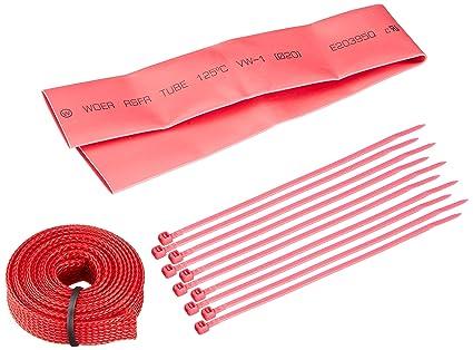 da076b717b76 Amazon.com: Bitspower UV-Reactive Cable Sleeve Kit, Red: Computers ...