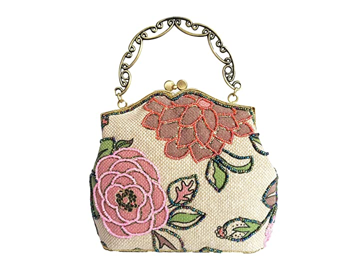 1920s Accessories | Great Gatsby Accessories Guide  Handbag Flower Beaded Clutch Evening Bag Hot  AT vintagedancer.com