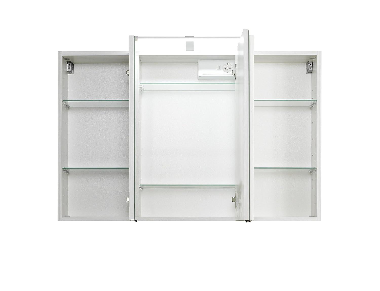 Held Mobel Cardiff 3d Spiegelschrank 100 Holzwerkstoff Weiss 20 X