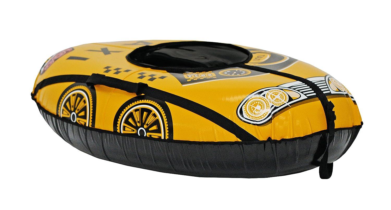 Trineos Hinchable, Snow Tube Yellow Car 105 * 65 cm: Amazon.es ...