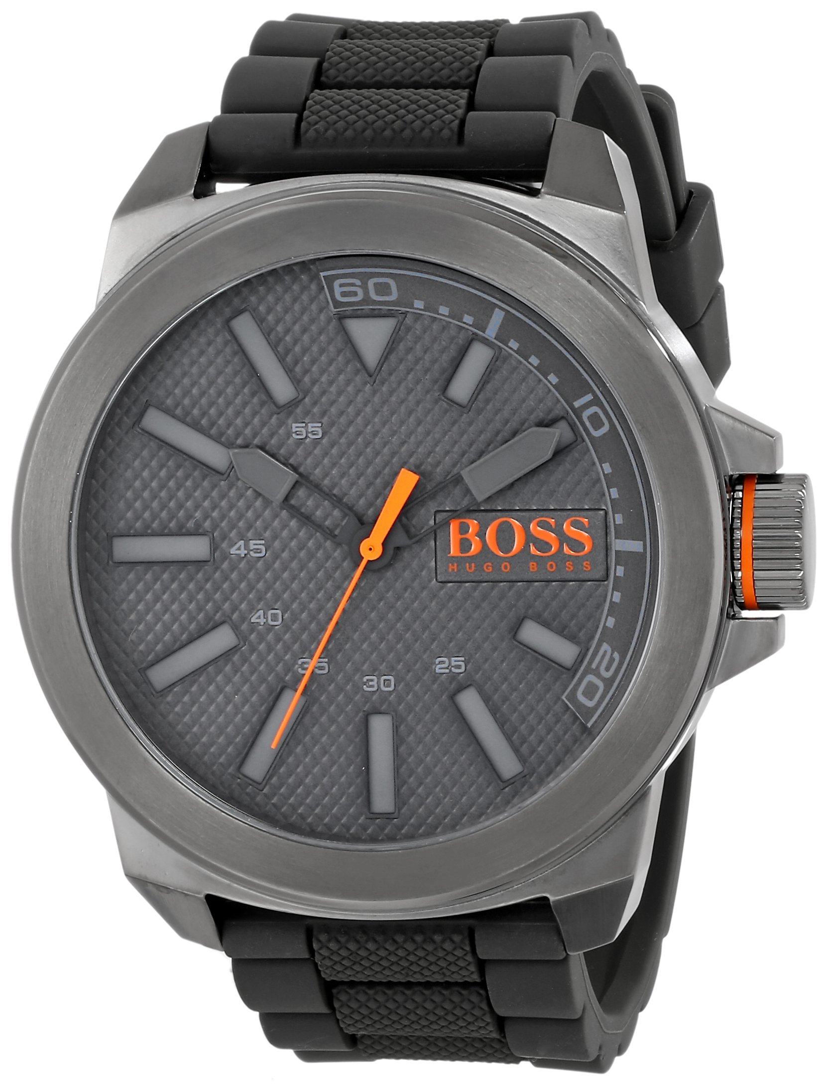 HUGO BOSS Orange Men's 1513005 New York Stainless Steel and Silicone Watch