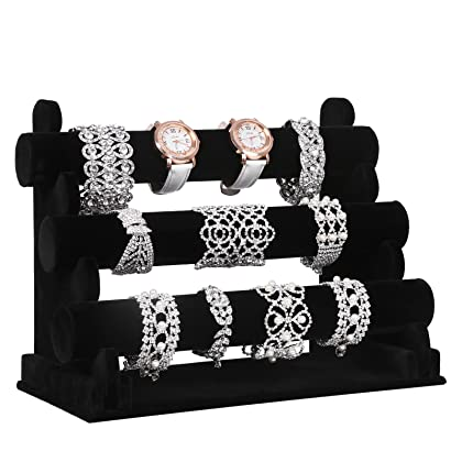 Image result for 3 tier velvet watch stand