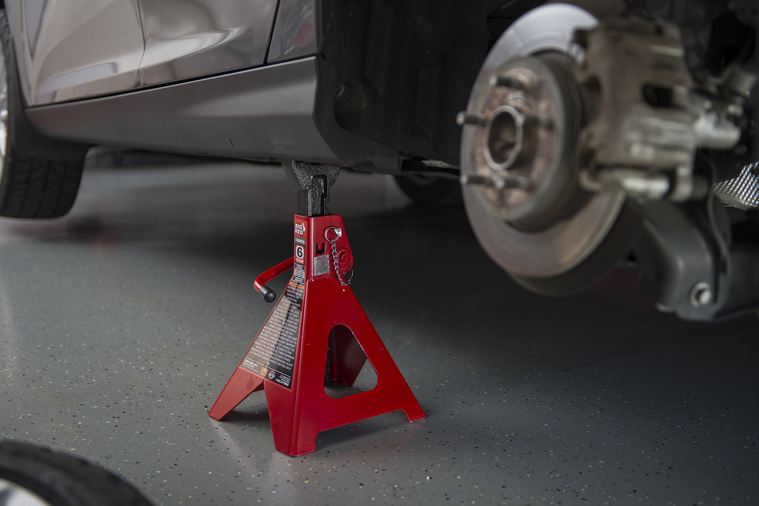 Torin Big Red Steel Jack Stands: Double Locking, 6 Ton Capacity, 1 Pair by Torin (Image #14)