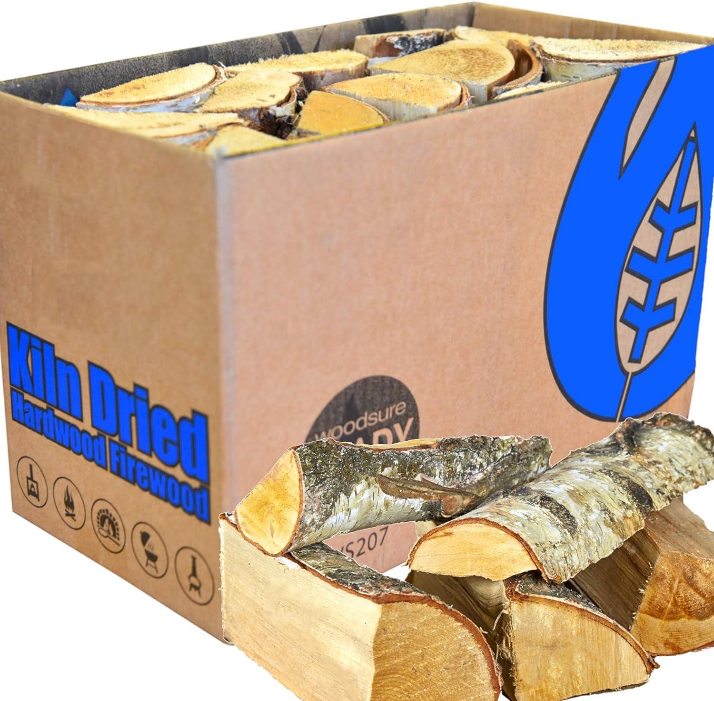 Leña EcoBlaze: troncos de madera de primera calidad de 25 cm, secado al 20%, chimenea, estufas, quemadores de leña, chimeneas, fogatas, hornos de pizza y más