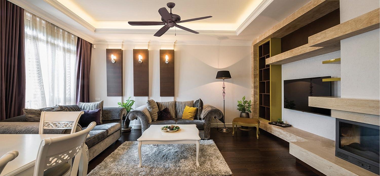 Craftmade ZE56BNK5 Zena Stainless Steel 56 Inch Ceiling Fan for Living Room