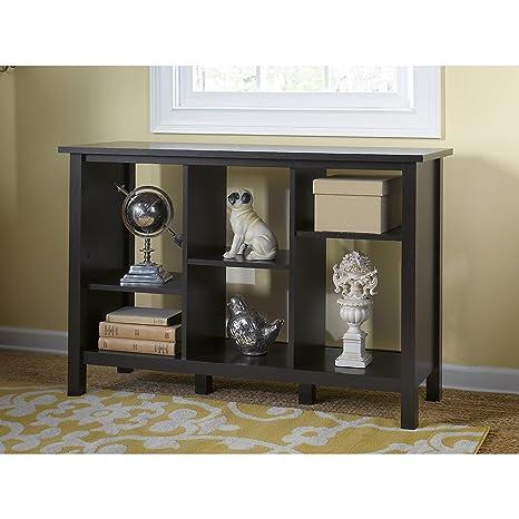 Bush Furniture Broadview 6 Cube Storage Bookcase in Espresso Oak