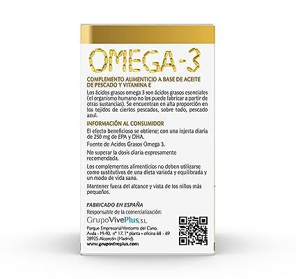 Vive+ Omega 3, Suplemento Alimenticio - 3 Paquetes de 48 Cápsulas ...