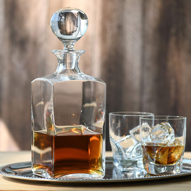 1000 ML Regalo Perfetto Collezione Caro Krosno Whisky Caraffa Decanter Ristorante Ideale per la Casa Feste e Ricevimenti