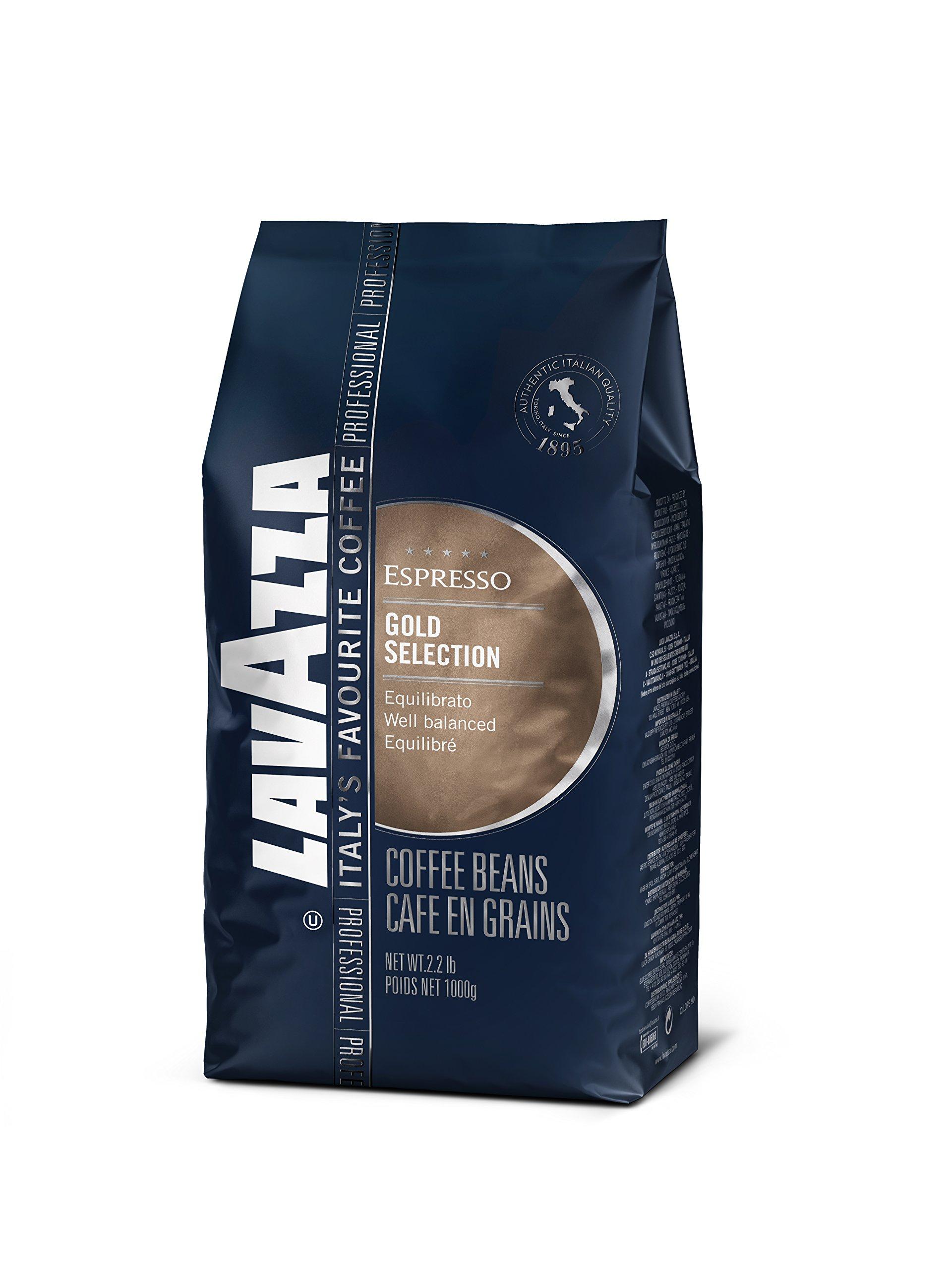 Lavazza Gold Selection Whole Bean Coffee Blend, Medium Espresso Roast, 2.2-Pound Bag