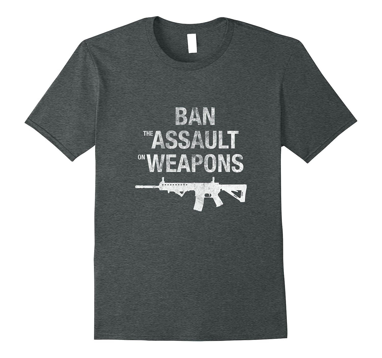 Ban the Assault on Weapons Gun Rights Grunge T-shirt