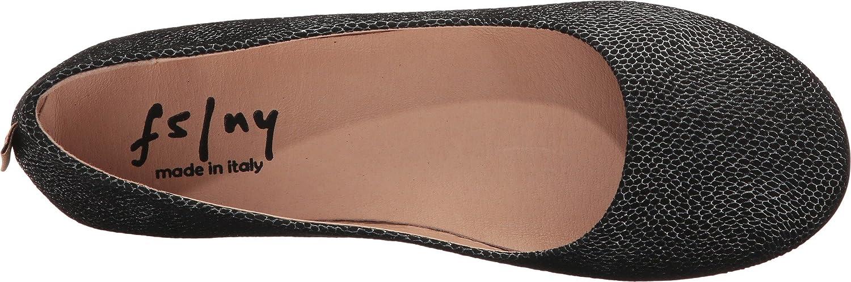 French Sole Women's Zeppa Slip on Shoes B06Y24N1ZJ 7 B(M) US Black Foil Print