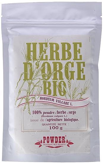 Powder Hierba de Cebada Ecológica en Polvo - 100 gr: Amazon.es ...