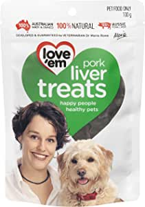 Love 'Em Pork Liver Treats 100g, Small/Medium/Large, Puppy