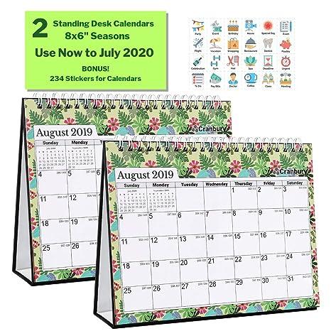Calendrier Juillet2020.Petit Calendrier De Bureau 2019 2020 20202020 20 3 X 15 2 Cm