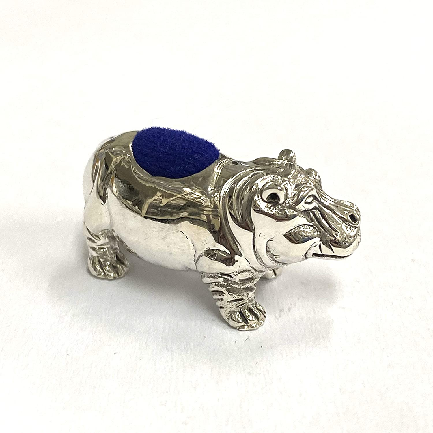 Victorian Style Collectible Ram Pin Cushion 925 Sterling Silver Sewing Needle
