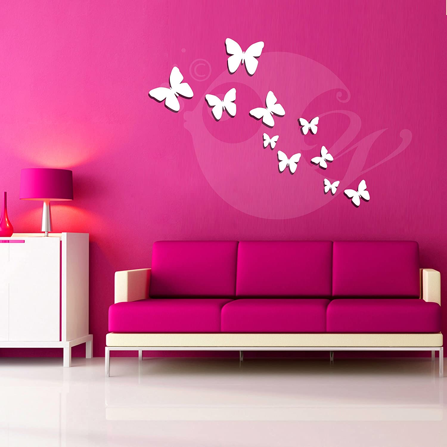 Buy Butterflies Acrylic 3D Wall Art Sticker (10 Pieces) Online At Low  Prices In India   Amazon.in
