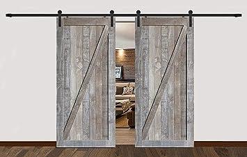 BL casa decorar hardware doble estilo rústico puerta corrediza de ...