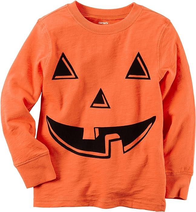 e3b133558977 Amazon.com  Carters Baby Boys Pumpkin Long Sleeve T-Shirt 3 Months ...