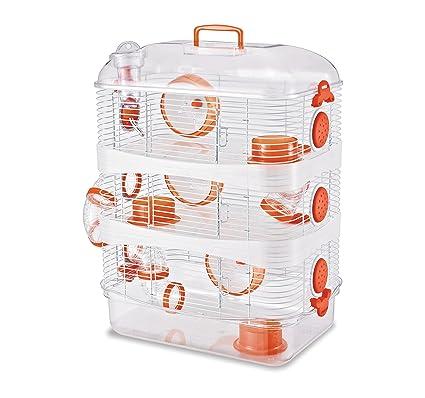 best wholesaler wide range big sale Cage Super ratatouille 3 étages - coloris aléatoire bleu ou orange