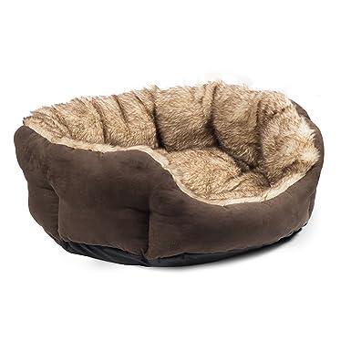 Ancol - Cama redonda para perro (91cm/Marrón)
