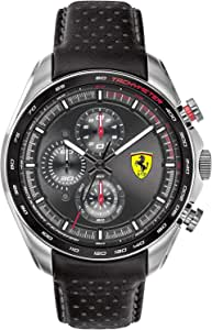 Ferrari Unisex-Adult Quartz Watch, Analog Display and Leather Strap 830648