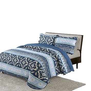 Amazon.com: vivinna Home Textile colcha de algodón queen ...