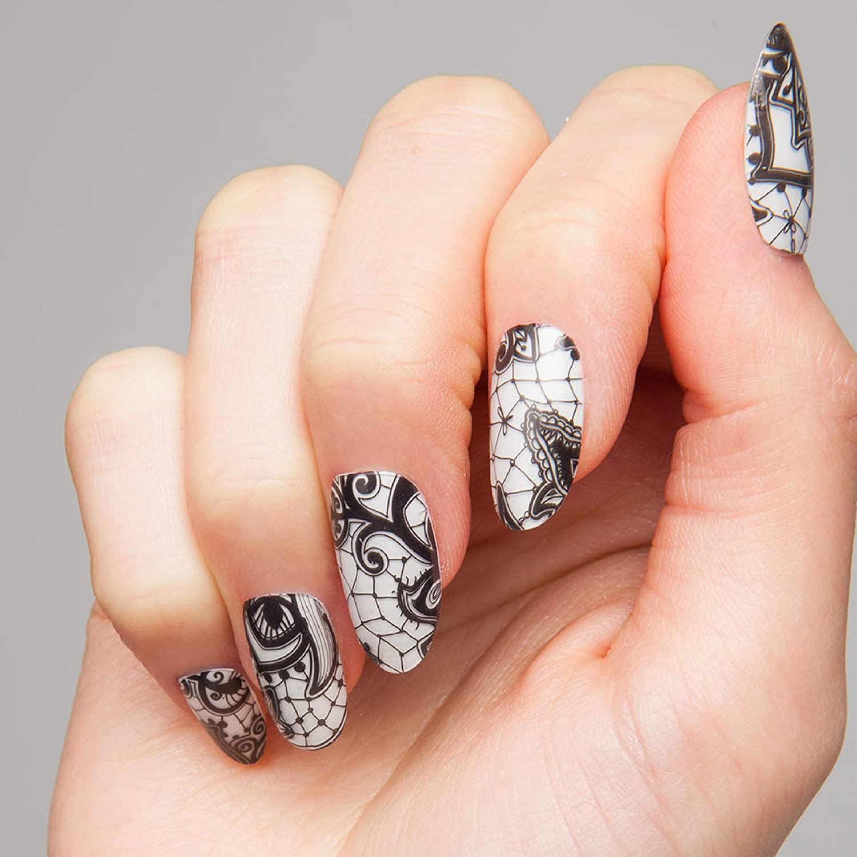 ThumbsUp Nägel – Henna Spitze Nail Wraps 20 Packungen/Pack: Amazon ...