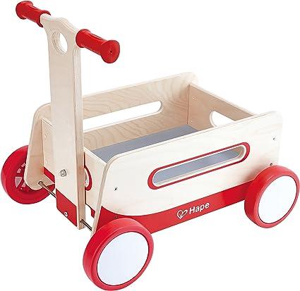 Amazon.com: Hape Red Wonder Wagon - Cochecito de madera para ...