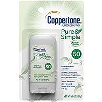Coppertone Coppertone Pure & Simple Spf 50 Stick Sunscreen, Mineral Sunscreen, 0.49 Ounce