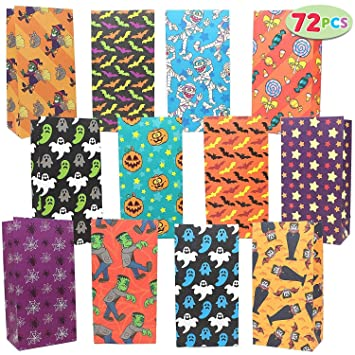 Amazon.com: Joyin 72 unidades de bolsas de Halloween; 12 ...