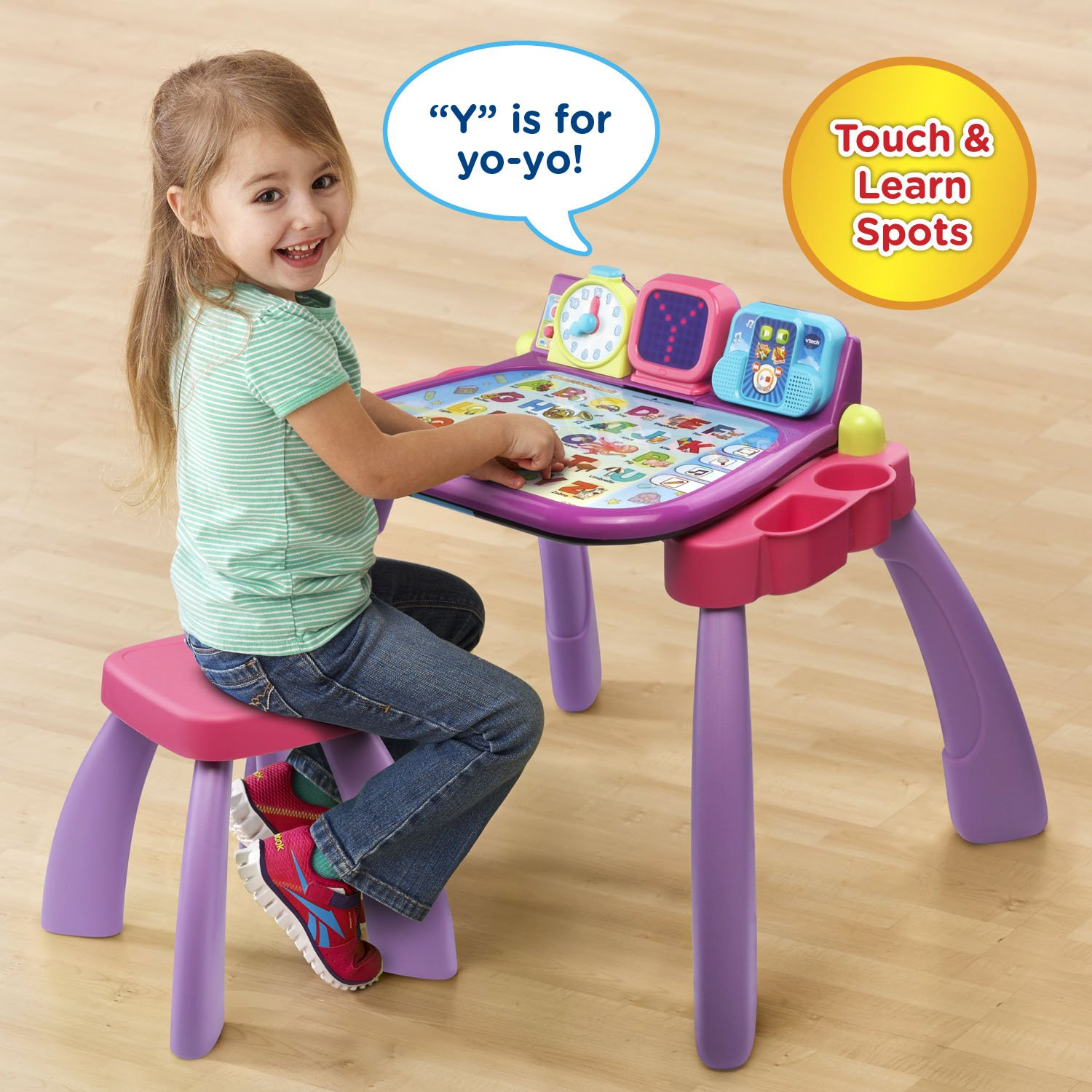 VTech Touch and Learn Activity Desk, Purple by VTech (Image #3)