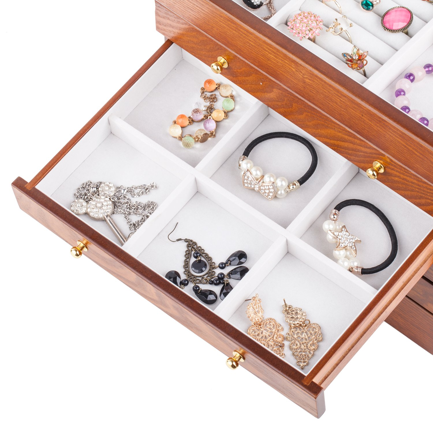 Rowling Extra Large Wooden Jewelry Box/Jewelry Armoire Ring Necklacel Gift Storage Box Organizer by Rowling (Image #6)
