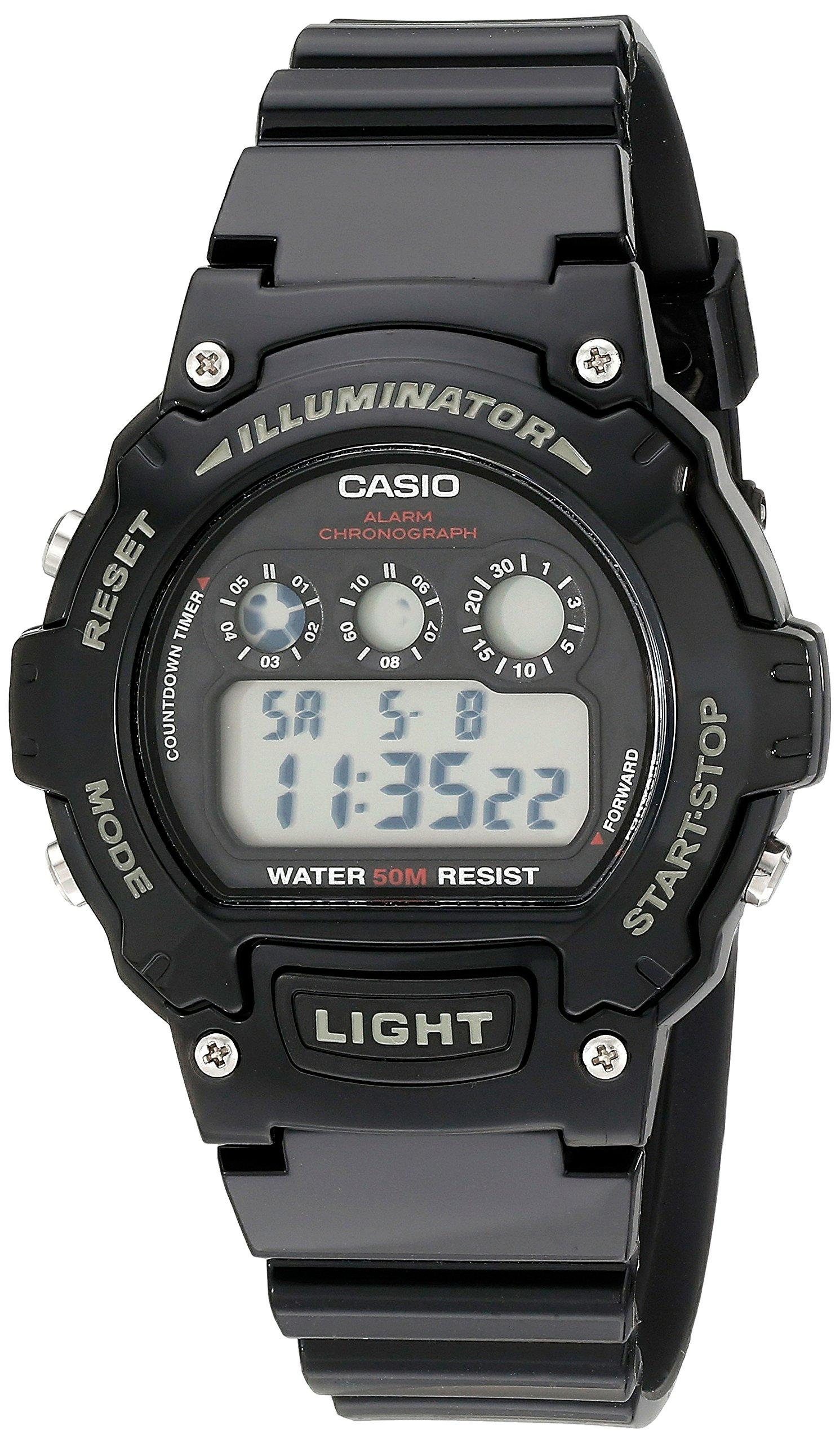 Casio Kids W-214HC-1AVCF Classic Digital Display Quartz Black Watch by Casio