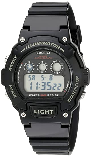 c7ab65fcf0d Casio Kids  W-214HC-1AVCF Black Resin Digital Watch  Casio  Amazon.ca   Watches