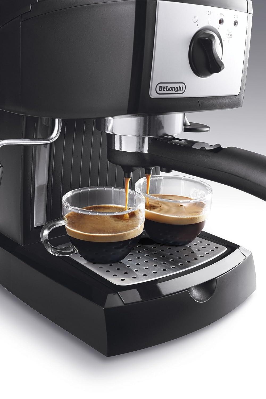 DeLonghi EC156.B Cafetera automática independiente, 1100 W, 1 L, 15 bares, de plástico, Negro, Metálico: Amazon.es: Hogar